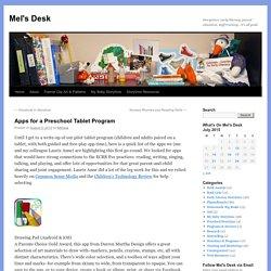 Apps for a Preschool Tablet Program