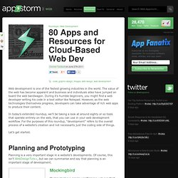 80 Apps and Resources for Cloud-Based Web Dev