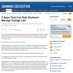 5 Apps That Can Help Students Manage College Life