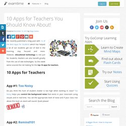 10 Apps for Teachers You Should Know About!