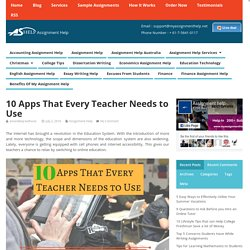 10 Apps That Every Teacher Needs to Use