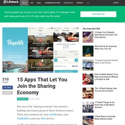 15 Apps That Let You Join the Sharing Economy
