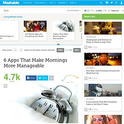 6 Apps That Make Mornings More Manageable