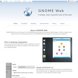 Epiphany: The web browser for the GNOME desktop