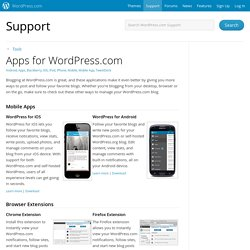 Apps para WordPress.com «Soporte técnico - WordPress.com