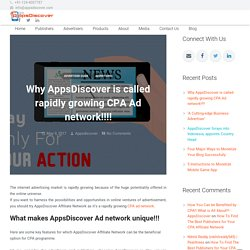 Why AppsDiscover is called rapidly growing CPA Ad network!!!! - AppsDiscover