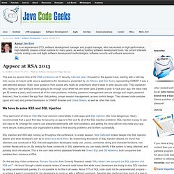 Appsec at RSA 2013