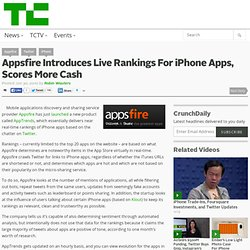 Appsfire Introduces Live Rankings For iPhone Apps, Scores More Cash