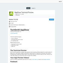 AppShow Technical Preview