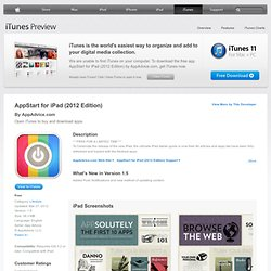 AppStart for iPad (2012 Edition) for iPad on the iTunes App Store