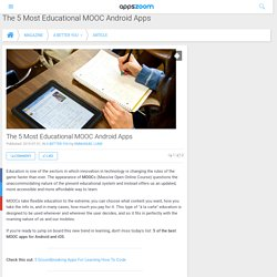 Magazine - The 5 Most Educational MOOC Android Apps - Appszoom