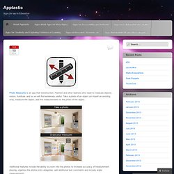 Apptastic | Apps for use in Education