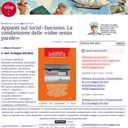 Appunti sul Social-fascismo. La condivisione delle «idee senza parole»
