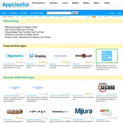 AppUseful | Web 2.0 Applications Directory. User Reviews of the