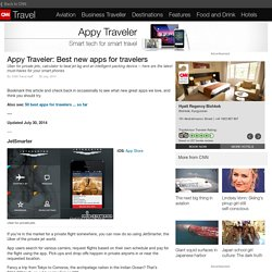 Appy Traveler: Best new apps for travelers
