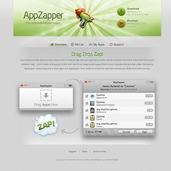 AppZapper - The uninstaller Apple forgot.