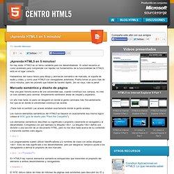 ¡Aprenda HTML5 en 5 minutos!