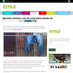 Aprenda a manter a cor da calça jeans usando sal