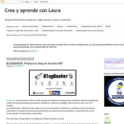 BLOGBOOKER. Produce tu blog en formato PDF