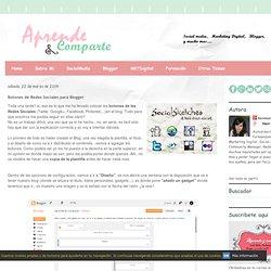 Botones de Redes Sociales para Blogger