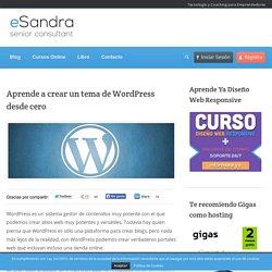 Aprende a crear un tema de WordPress desde cero