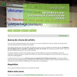Curso de LaTeX: Aprende a crear documentos científicos de calidad