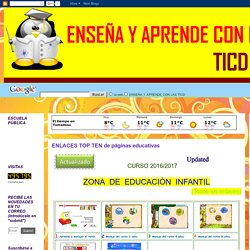ENSEÑA Y APRENDE CON LAS TICD: ENLACES TOP TEN de páginas educativas