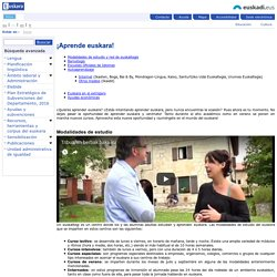 ¡Aprende euskara! - Euskara - Gobierno Vasco - Euskadi.eus