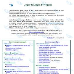 Passa o tempo e aprende - Jogos de Língua Portuguesa