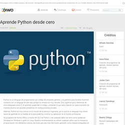 Aprende Python desde cero