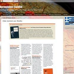 Aprendemos Español: Còmo escribir una Reseña