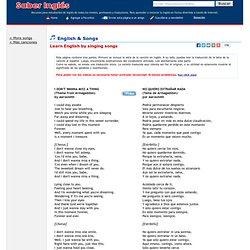 Songs - Aprender inglés con letras de canciones en inglés - I Don't Wanna (Want To) Miss A Thing - Aerosmith