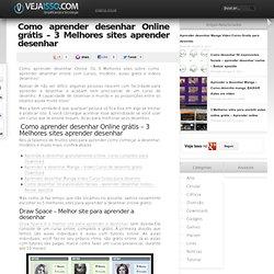 Como aprender desenhar Online - 3 Melhores sites aprender desenhar