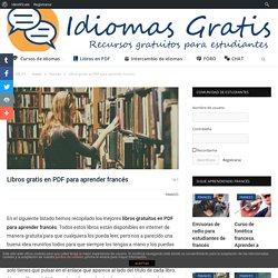 Libros gratis en PDF para aprender francés