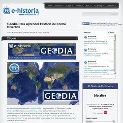 Geodia Para Aprender Historia de Forma Divertida- Un portal de historia y TIC