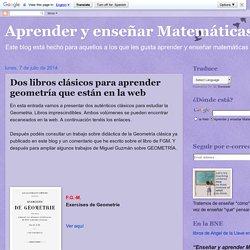 Dos libros clásicos para aprender geometría que están en la web