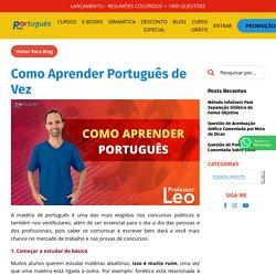 Como Aprender Português de Forma Definitiva