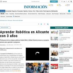 Aprender Robótica en Alicante con 3 años