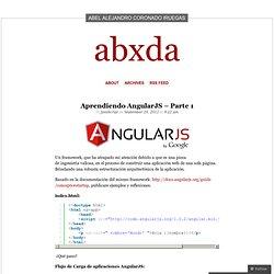 Aprendiendo AngularJS – Parte 1