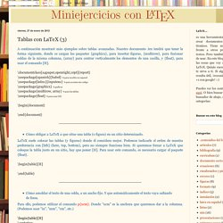 Aprendiendo LaTeX: Tablas con LaTeX (3)