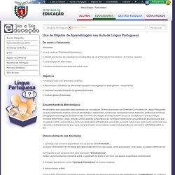 Uso de Objetos de Aprendizagem nas Aula de Língua Portuguesa