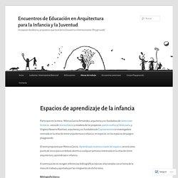 Encuentros de Educación en Arquitectura para la Infancia y la Juventud