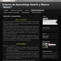 """Entorno de Aprendizaje Abierto y Masivo """"MOOC"""": Definición y Características"""