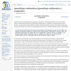 Aprendizaje colaborativo/Aprendizaje colaborativo y cooperativo
