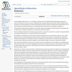 Aprendizaje colaborativo/Definición