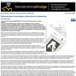 Educación para el aprendizaje y desarrollo de competencias