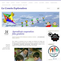 Aprendizaje cooperativo: folio giratorio