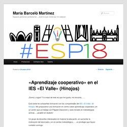 «Aprendizaje cooperativo» en el IES «El Valle» (Hinojos)