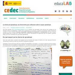 Los diarios de aprendizaje, una herramienta para reflexionar sobre el propio aprendizaje