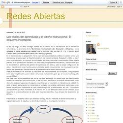 Redes Abiertas: Las teorías del aprendizaje y el diseño instruccional. El esquema incompleto.